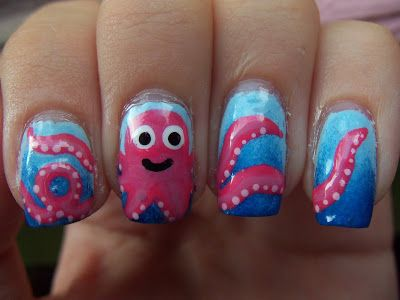 Meg's Manicures: Octopus #nail #nails #nailart
