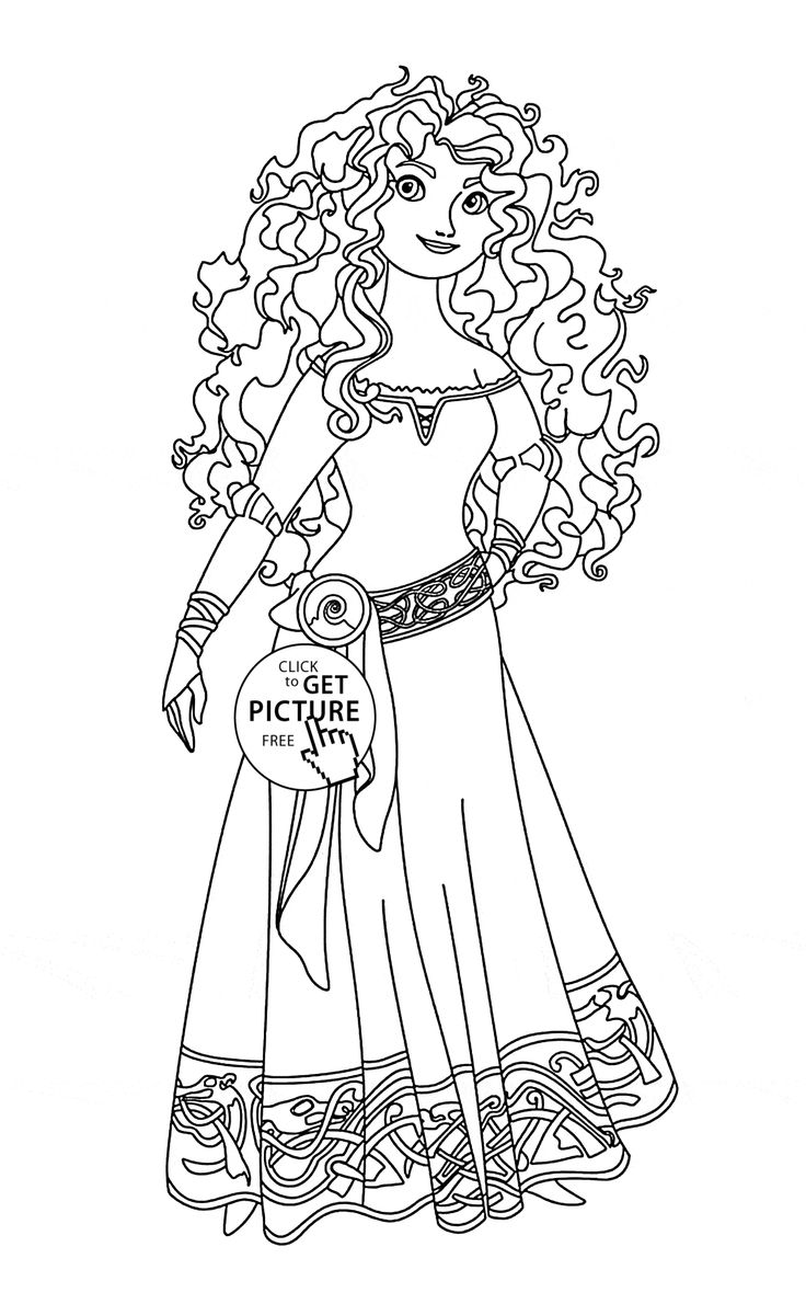 meridas face coloring pages - photo#9