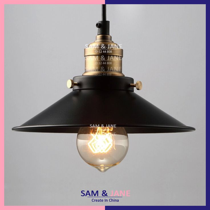 PL-MA02 Black vintage pendant light