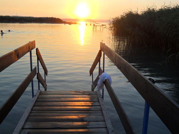Sunset in Zamárdi, Lake Balaton - Hungary  (photo by Zsuzsi I)