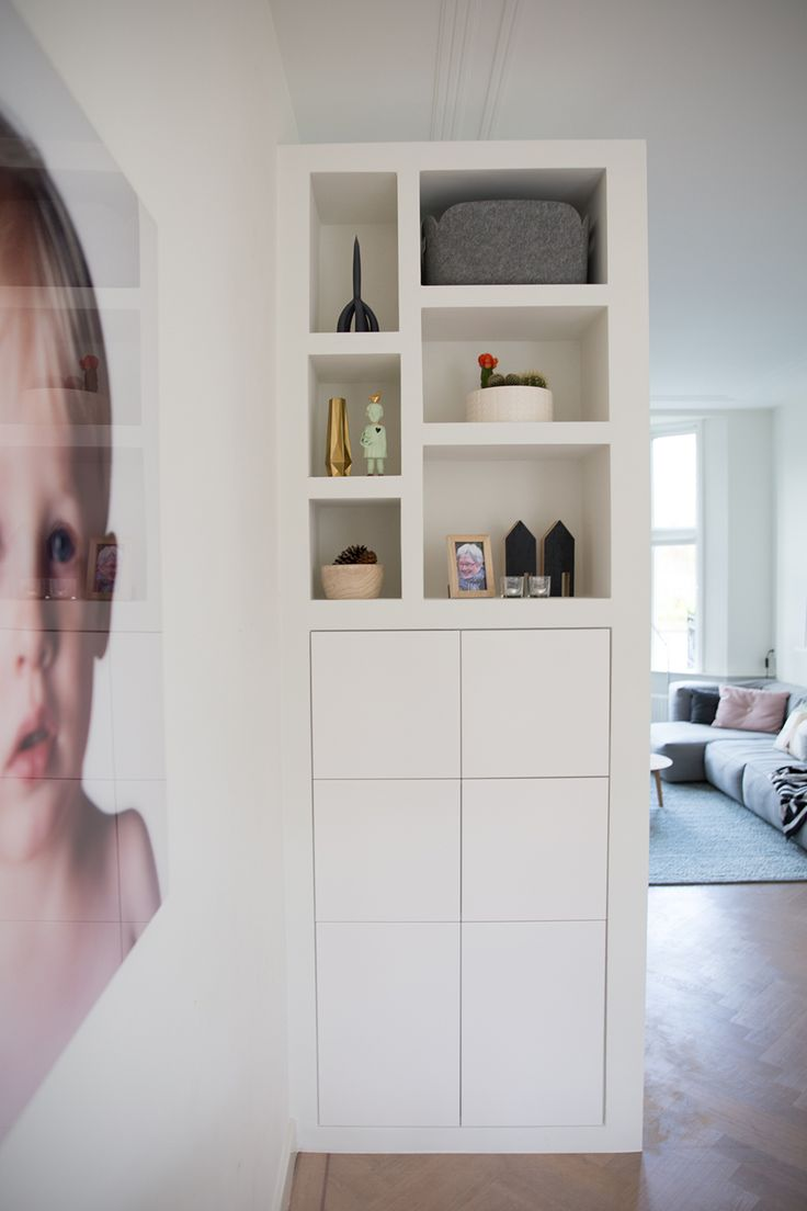 Love this, it's just what I need to clear the clutter out of sight.........Femkeido Interior Design - Woonhuis Delft