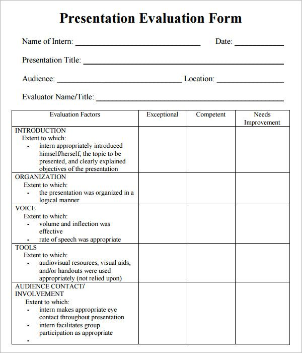 Best 25+ Presentation evaluation form ideas on Pinterest - student feedback form in doc