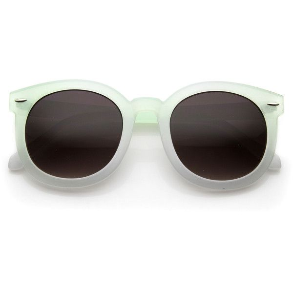 Woman's round horned rim p3 summer festival pastel sunglasses 9611 ($14) ❤ liked on Polyvore featuring accessories, eyewear, sunglasses, glasses, mirror lens sunglasses, mirror sunglasses, oversized round sunglasses, mirrored sunglasses and horn rimmed glasses