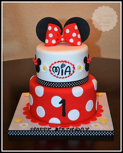 Red Minnie Cake by yummytreatsbyyane