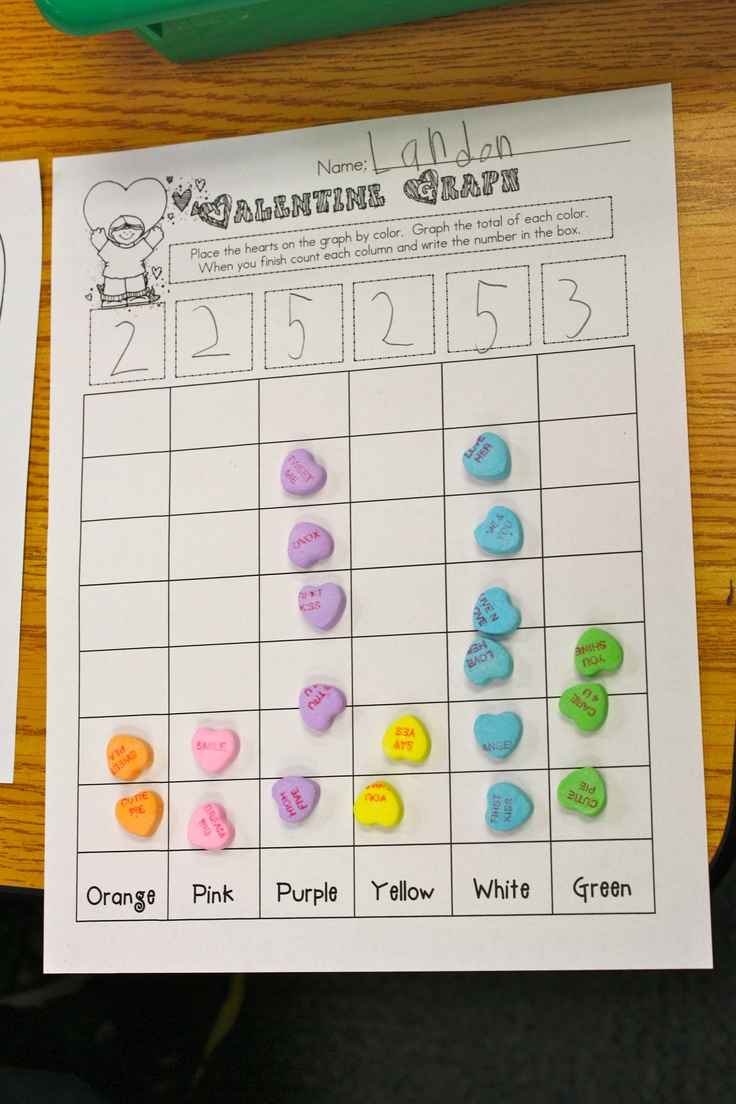 Toddler Classroom Valentine Ideas : Valentine s math and literacy fun matching