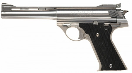 .44 Magnum AutoMag. I'd say it's the DeLorean of the firearms world. Quite possibly the coolest pistol ever, but just never really caught on. And it's the only automatic that Dirty Harry ever carried.
