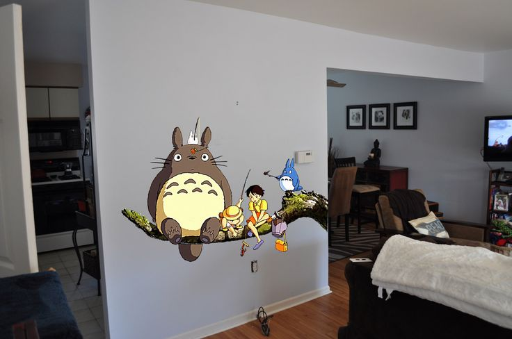 My Neighbor Totoro and Friends Wall Decal by NamelessVinyl on Etsy https://www.etsy.com/uk/listing/230822013/my-neighbor-totoro-and-friends-wall