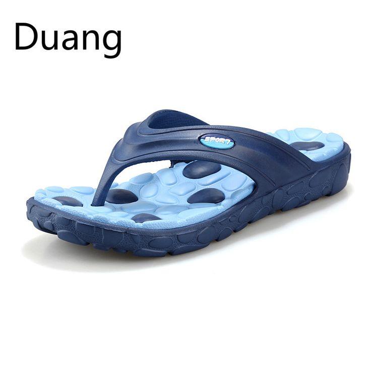 Hot Sale authentic nova moda verão chinelos homens sandálias masculinas plana chinelos massagem praia shoes homens preguiçosos frete grátis em Sandálias de Sapatos no AliExpress.com | Alibaba Group