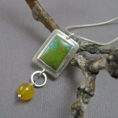 Silver.Work : Chinese Turquoise and Chalcedony