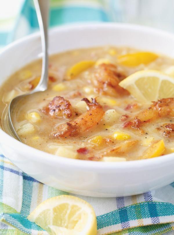 Recette de Ricardo de chowder de crevettes et de maïs