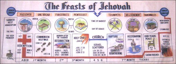 Feasts of Leviticus 23 with their comparative prophetic events...want to study this out!