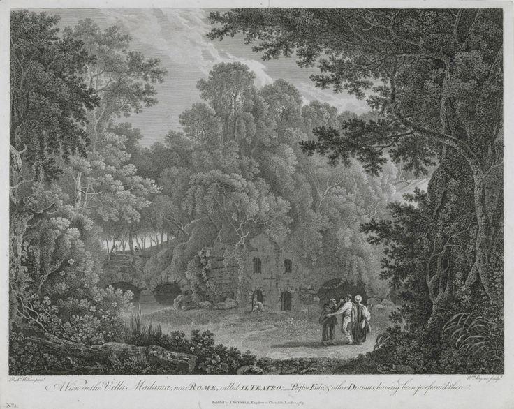 Richard Wilson RA, A View in the Villa Madama, near Rome