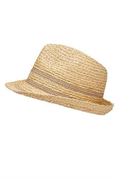 Metallic Stripe Trilby Rose Gold..can never have enough rose gold accessories