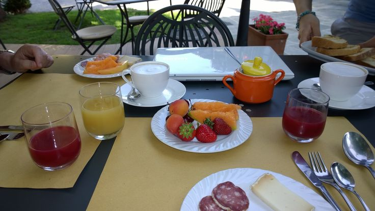 Breakfast at Ca del Re, Verduno, Piedmont, Italy, july 2014