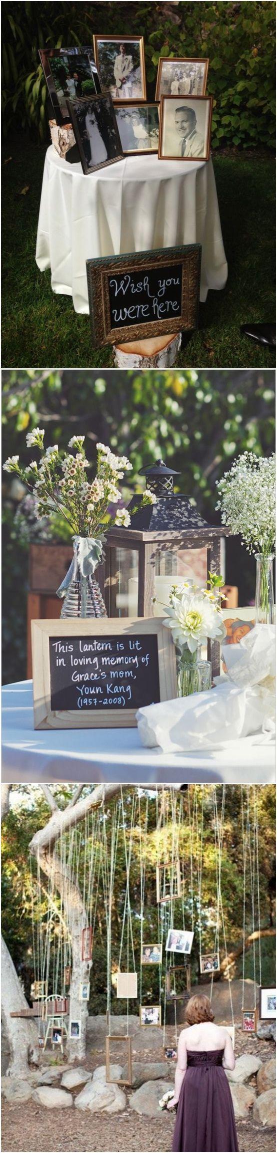 20 Unique Ways to Honor Deceased Loved Ones at Your Wedding #wedidngs #wedidngideas #wddingtips #weddingideas