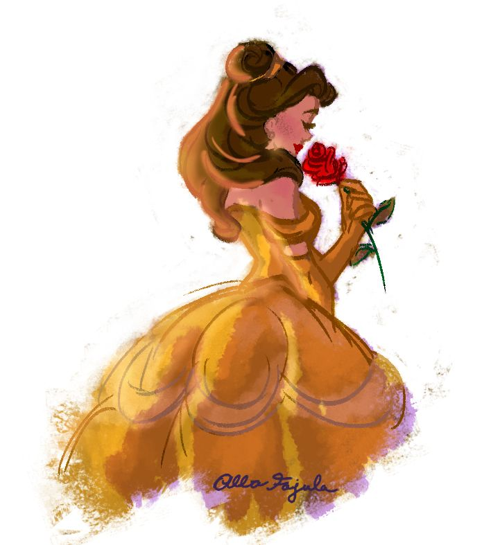quick sketch of Belle, so excited for The Beauty and the Beast **
