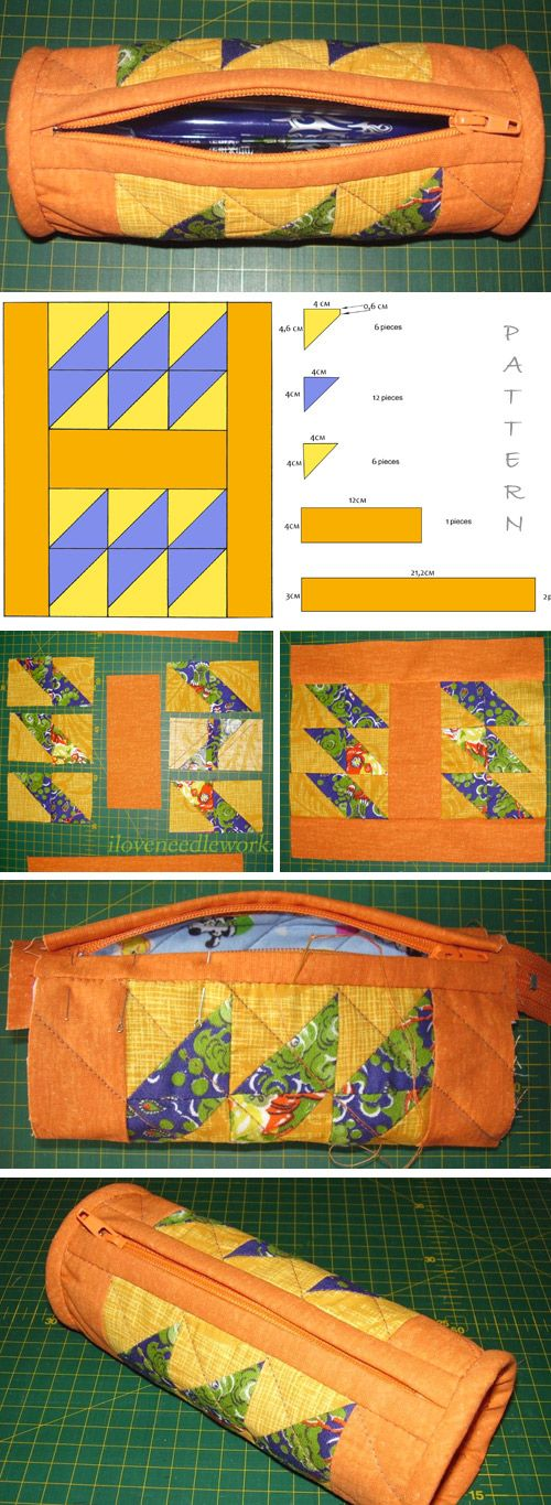 Patchwork Pencil Case Tutorial   http://www.free-tutorial.net/2016/12/patchwork-pencil-case-tutorial.html