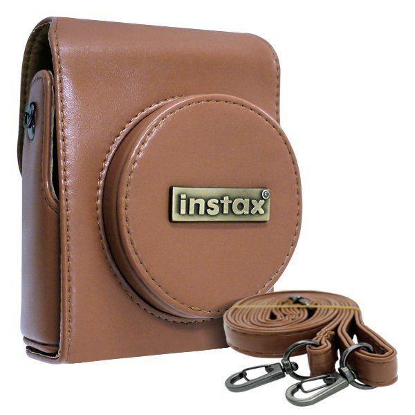 Camera Protective Bag Case Brown Leather for Fujifilm Fuji Instax Mini 90