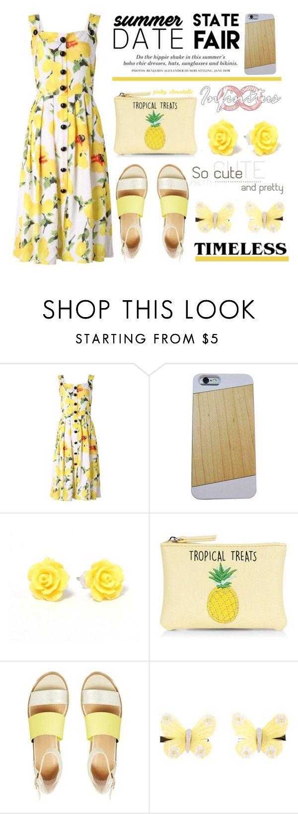 """""""Infinitus Cases, Summer Date - The State Fair: 06/07/16"""" by pinky-chocolatte ❤ liked on Polyvore featuring H&M, New Look and Monsoon"""
