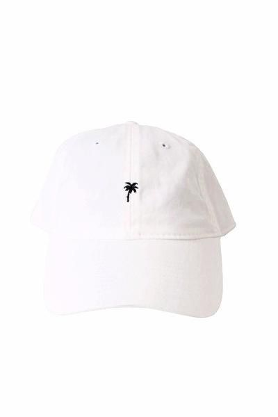 BikiniBird Exclusive Palm Tree Baseball Hat in White