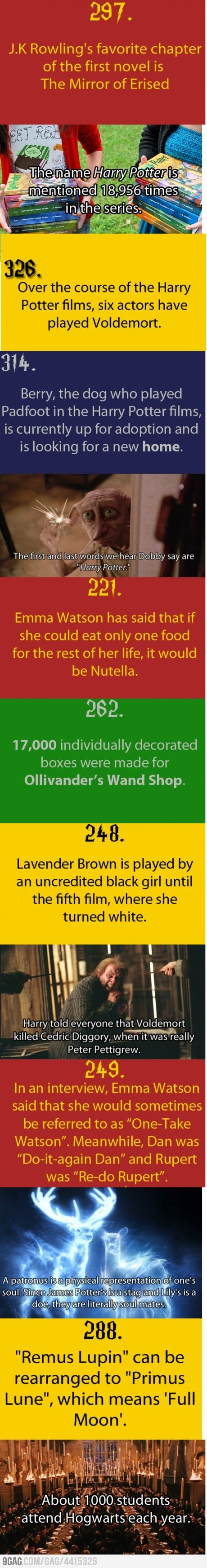 Just Some Harry Potter facts.