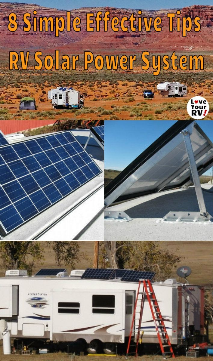 8 Tips for setting up RV solar power - http://www.loveyourrv.com/8-simple-effective-tips-for-an-rv-boondocking-solar-power-system/ #RVing #boondocking #solar