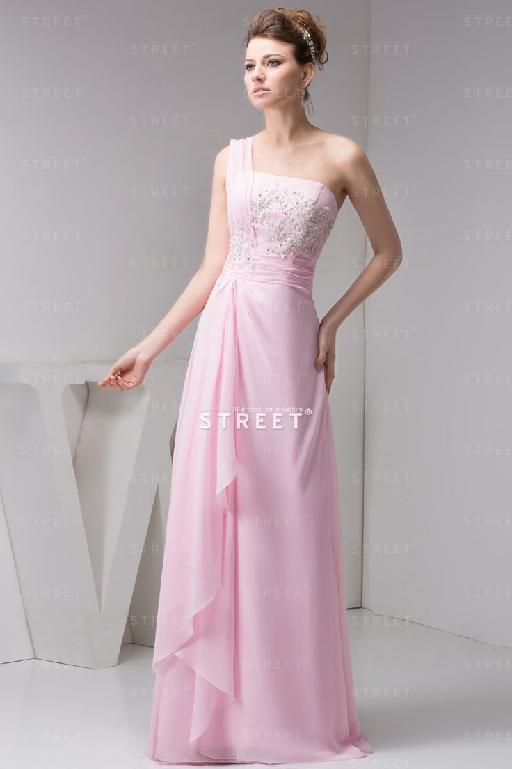 38 best make your bridesmaid beautiful the same as you images on pink one shoulder applique girls romantic bridesmaid dress beach theme pink oneshoulder ombrellifo Images