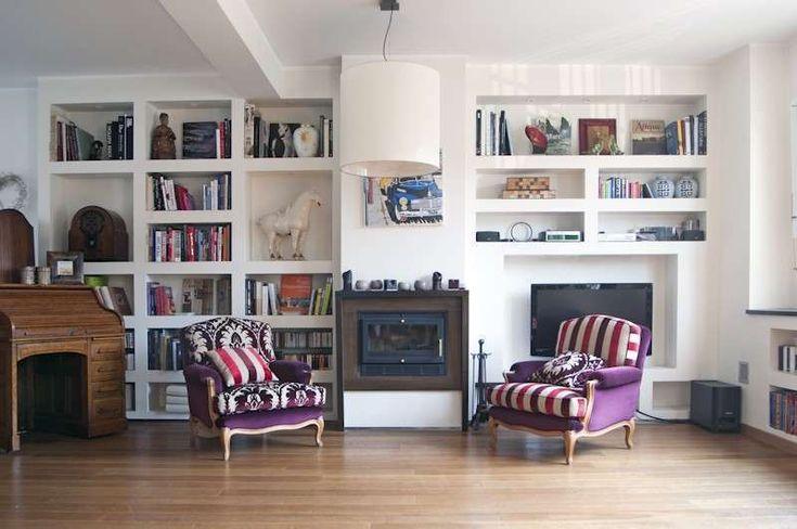 Idee pareti soggiorno in cartongesso - Arredare il soggiorno con il cartongesso