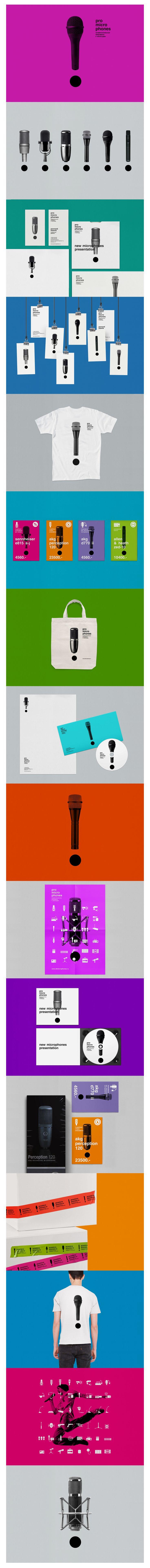 Promicrophones, Identity © Vova Lifanov  design identity #packaging #branding #marketing PD