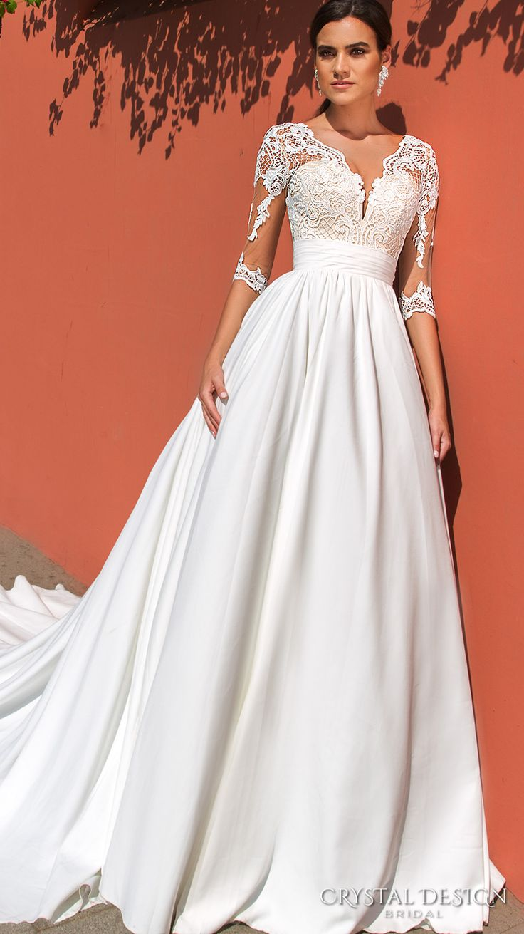 Best 25 quarter sleeve ideas on pinterest princess for Wedding dresses with three quarter length sleeves