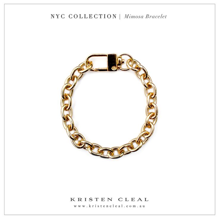 Mimosa Gold Chain Bracelet by Kristen Cleal Designs  Shop our online store at www.kristencleal.com.au