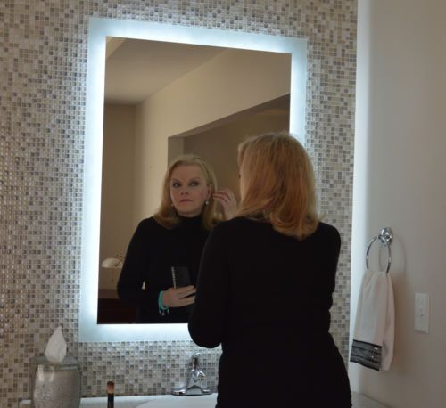 17 best images about bathroom on pinterest lighted mirror contemporary bat. Black Bedroom Furniture Sets. Home Design Ideas