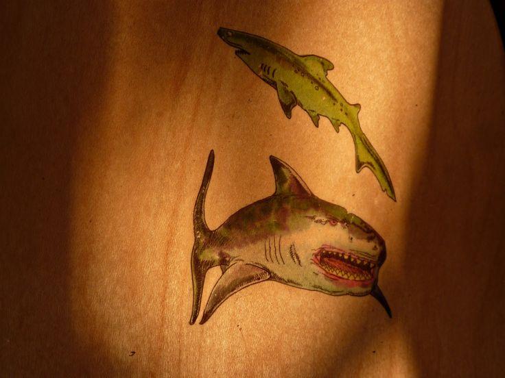 Turkey Track Tattoo Applying shark tattoos to