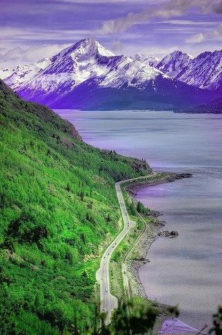 Alaska's Seward Highway.  Breath-taking wilderness is amazing.