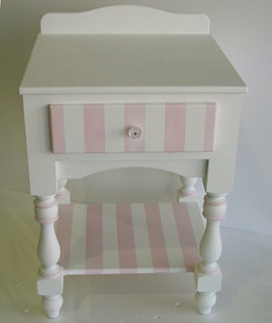 painted striped furniture - Google Search