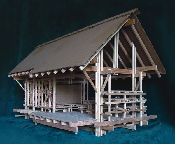 Shelter From the Storm photograph of model