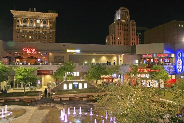 CityScape Phoenix - In the heart of downtown, CityScape is a hub of shopping, dining, entertainment, events, and nightlife. Gypsy Bar, Blue Hound Kitchen and Cocktails, and Stand Up Live are just a few of the spots to explore.Details: 1 E Washington St., Phoenix 85004