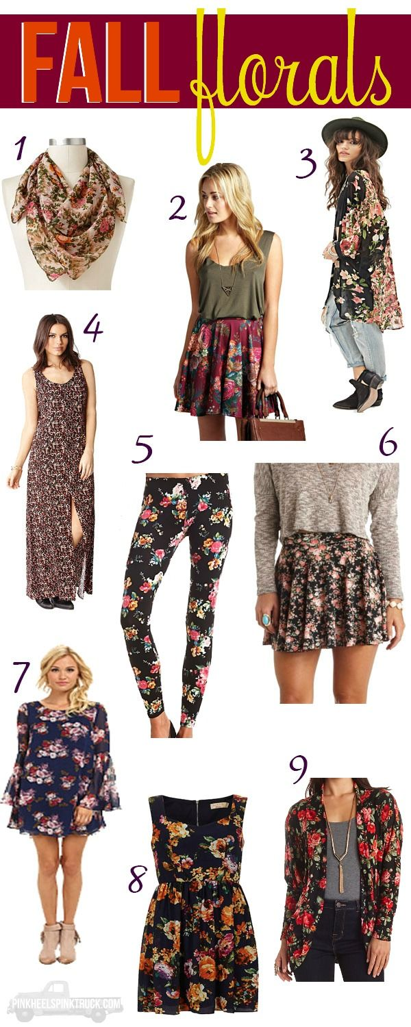 Need some Fall trends? I have you covered! Here's some outfits of Fall Florals via pinkheelspinktruck.com (@pnkheelspnktrk)