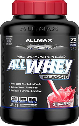 ALLMAX ALLWHEY Classic 100 Pure Whey Protein Strawberry 5 Pound ** Find out more about the great product at the image link.