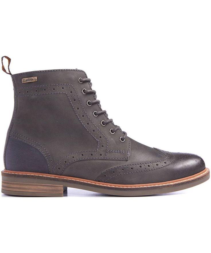 Men's Barbour Belsay Boots - Dark Grey