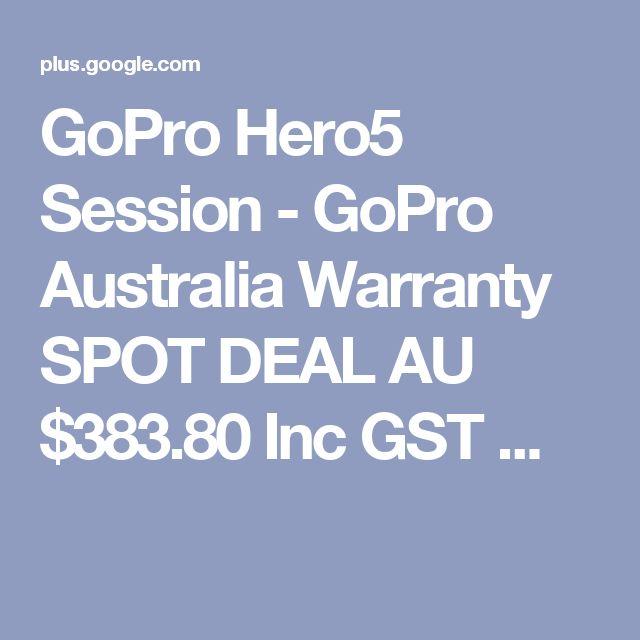 GoPro Hero5 Session - GoPro Australia Warranty SPOT DEAL  AU $383.80 Inc GST ...