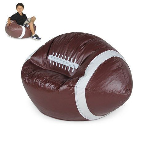 Bean-Bag-Chair-For-Kids-Seat-Football-Brown-Teen-Adult-Sports-Games-Lounger-Gift