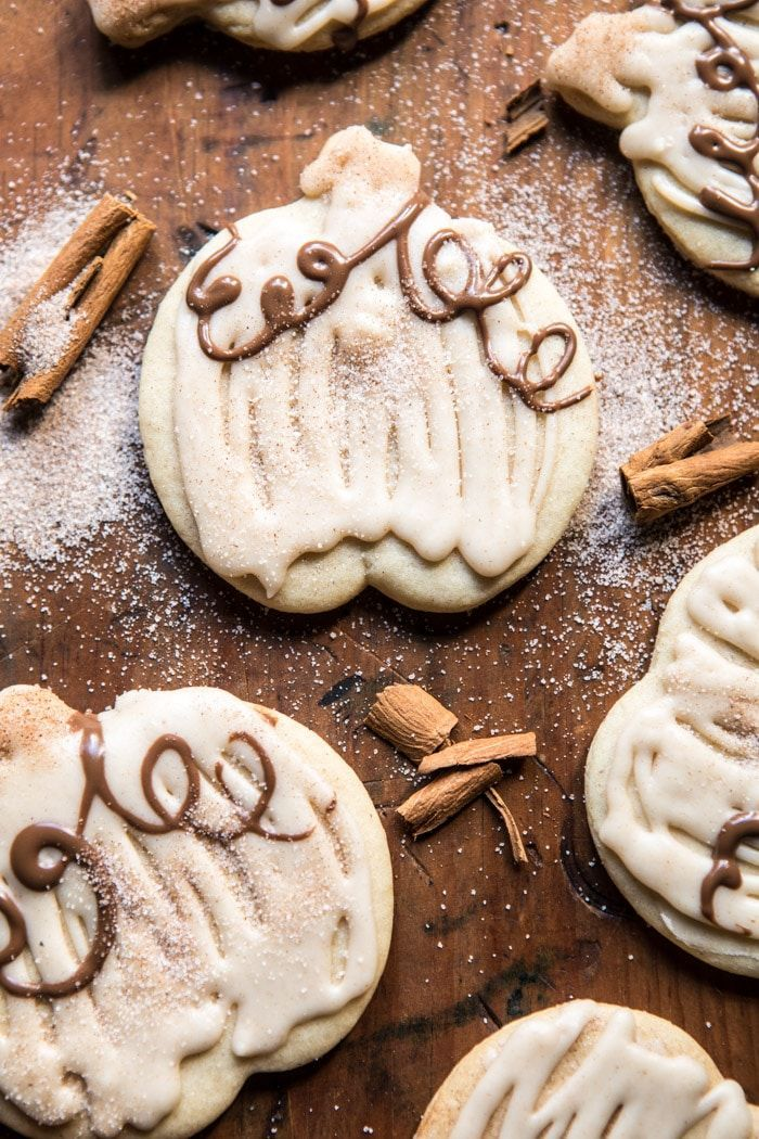 Cinnamon Spiced Sugar Cookies with Browned Butter Frosting: soft, sweet, loaded with cinnamon flavor, super cute, delicious & so easy! @halfbakedharvest.com