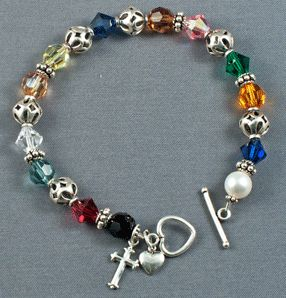 The Lord's Prayer Bracelet, Swarovski Crystal & Sterling Silver
