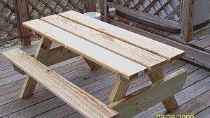 Build a Kids Picnic Table Plans