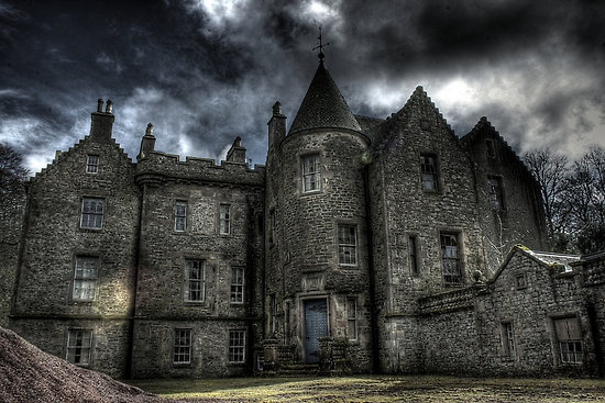 Old House by Richard Shepherd. This glorious old Castle in Scotland lies abandonned, moss growing over the entrance stairs, creeping down its stone walls from the roof above. What secrets and forgotten treasures lie behind that ancient blue door? Did they look back before shutting it behind them one last time?