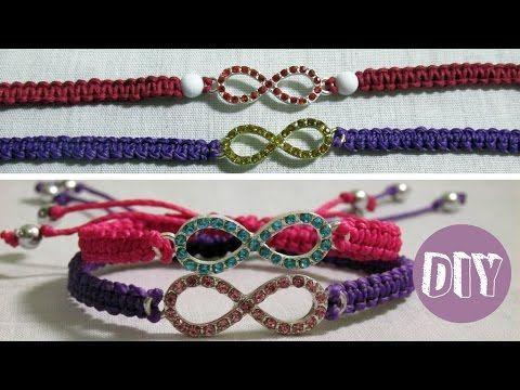 DIY 9# Pulseira da amizade macramê com pingente, Friendship Bracelet, My Crafts and DIY Projects