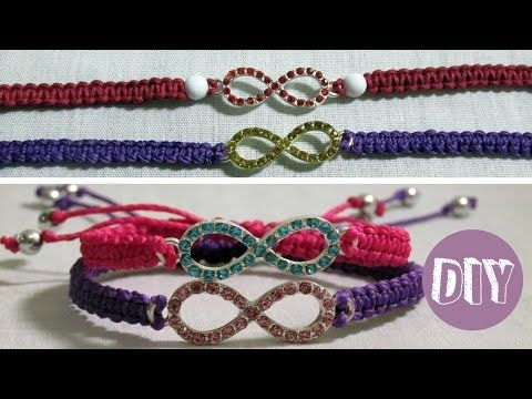 DIY 9# Pulseira da amizade macramê com pingente, Friendship Bracelet, My Crafts and DIY Projects