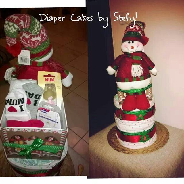 Diaper cake Christmas !