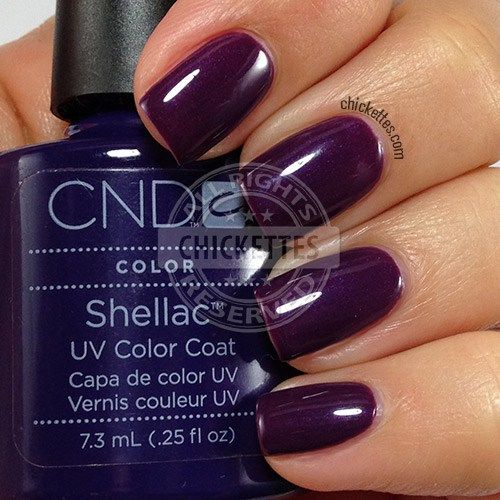 CND Shellac Rock Royalty Swatch by Chickettes.com